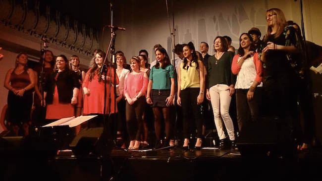 Sound Choir on stage